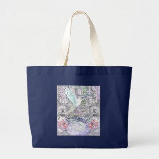 Surrealistic Rainforest Jumbo Tote Bag