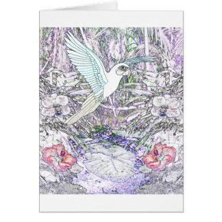 Surrealistic Rainforest Greeting Card