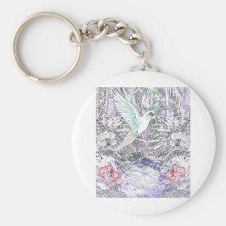 Surrealistic Rainforest Basic Round Button Keychain