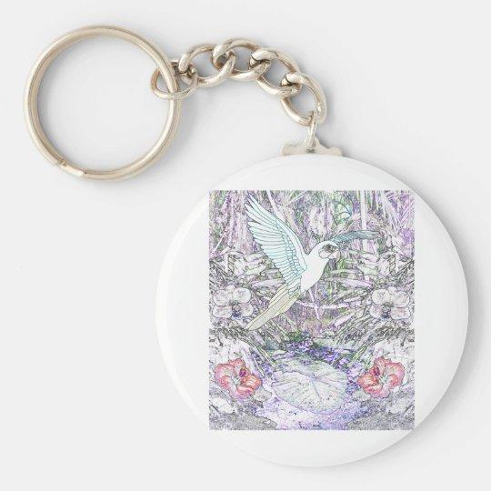 Surrealistic Rainforest Keychain