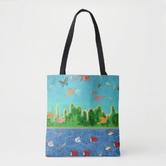 Surrealistic Sea and Sky Tote Bag