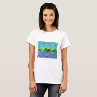 Surrealistic Sea and Skyscape on T-Shirt
