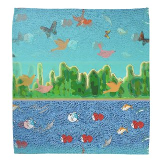 Surrealistic Sky and Sea Bandana