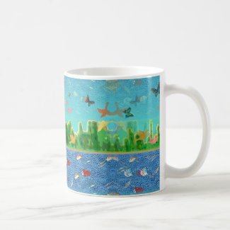 Surrealistic Sky and Seascape Coffee Mug