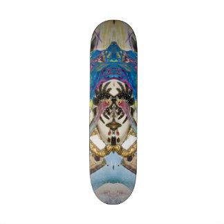 Surrealistic Venetian mask of the Brighella. Skateboard