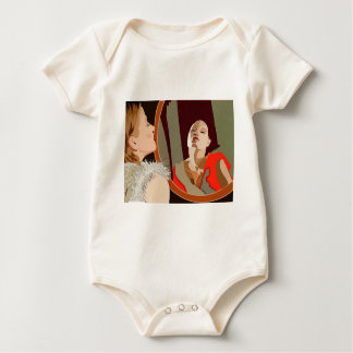 Surrealistic woman baby bodysuit