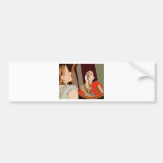 Surrealistic woman bumper sticker
