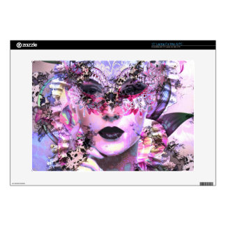 """Surrealistic Woman with Mask 15"""" Laptop Skins"""