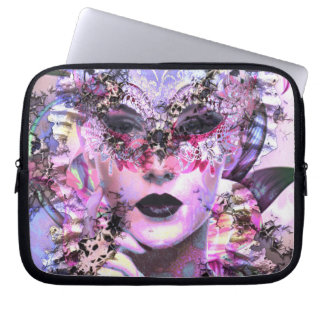 Surrealistic Woman with Mask Computer Sleeve
