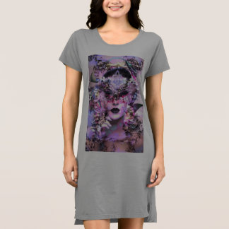 Surrealistic Woman with Mask Dress