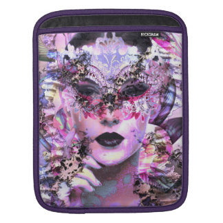 Surrealistic Woman with Mask iPad Sleeve