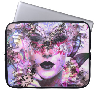 Surrealistic Woman with Mask Laptop Sleeve