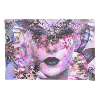 Surrealistic Woman with Mask Pillowcase