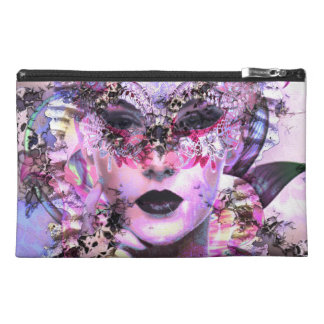Surrealistic Woman with Mask Travel Accessory Bag