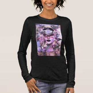 Surrealistic Women with Mask Long Sleeve T-Shirt