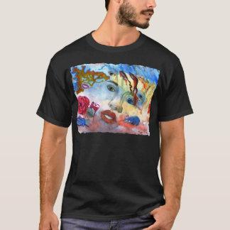 Surrelistic Portrait Woman's Face T-Shirt