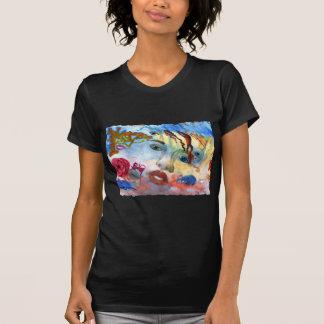 Surrelistic Portrait Woman's Face Tshirts