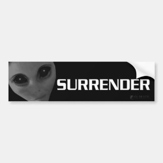 SURRENDER BUMPER3 CAR BUMPER STICKER