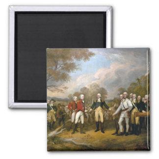 Surrender of General Burgoyne - 1822 2 Inch Square Magnet