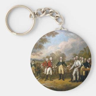 Surrender of General Burgoyne - 1822 Basic Round Button Keychain