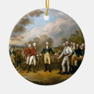 Surrender of General Burgoyne - 1822 Double-Sided Ceramic Round Christmas Ornament
