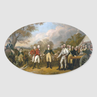 Surrender of General Burgoyne - 1822 Oval Sticker