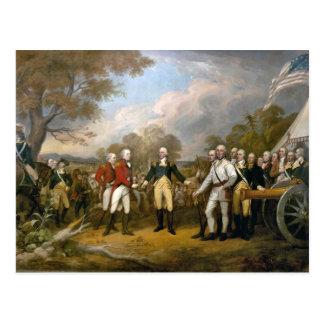 Surrender of General Burgoyne - 1822 Postcard