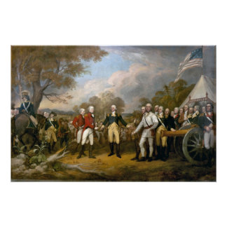 Surrender of General Burgoyne - 1822 Poster