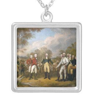 Surrender of General Burgoyne - 1822 Square Pendant Necklace