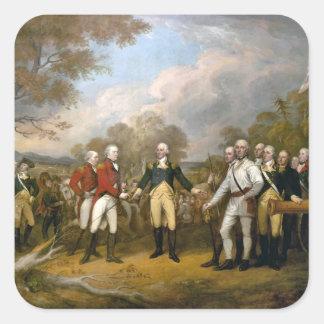 Surrender of General Burgoyne - 1822 Square Sticker