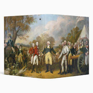 Surrender of General Burgoyne by John Trumbull 3 Ring Binder