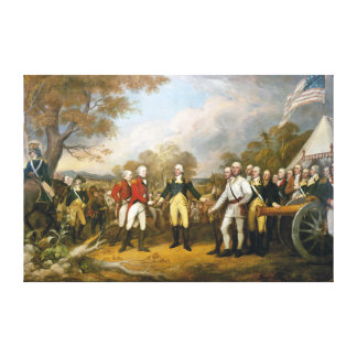 Surrender of General Burgoyne by John Trumbull Canvas Print