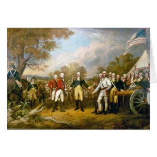 Surrender of General Burgoyne by John Trumbull Card