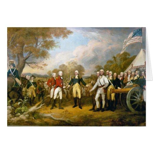 Surrender of General Burgoyne by John Trumbull Greeting Card