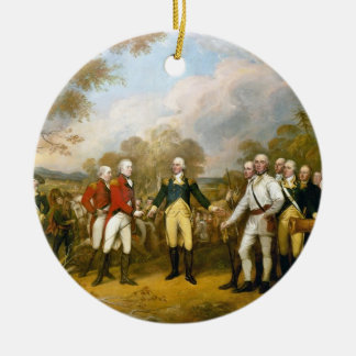 Surrender of General Burgoyne by John Trumbull Ceramic Ornament