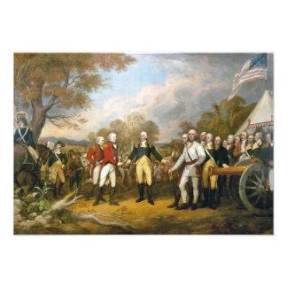 Surrender of General Burgoyne by John Trumbull Custom Invites