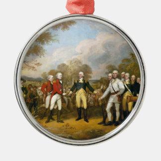 Surrender of General Burgoyne by John Trumbull Metal Ornament