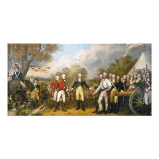 Surrender of General Burgoyne by John Trumbull Photo Card