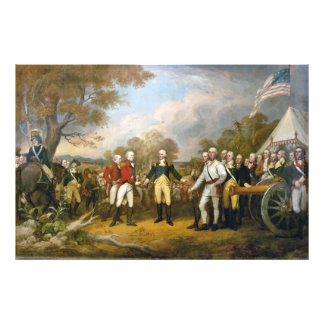 Surrender of General Burgoyne by John Trumbull Photo Print