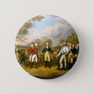 Surrender of General Burgoyne by John Trumbull Pinback Button