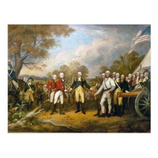 Surrender of General Burgoyne by John Trumbull Postcard