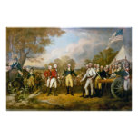 Surrender of General Burgoyne by John Trumbull Posters