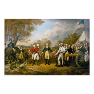 Surrender of General Burgoyne by John Trumbull Poster