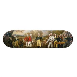 Surrender of General Burgoyne by John Trumbull Skate Board Decks