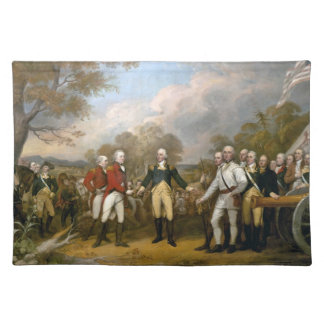 Surrender of General Burgoyne - Trumbull (1822) Cloth Placemat