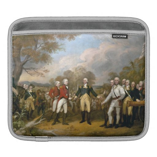 Surrender of General Burgoyne - Trumbull (1822) iPad Sleeve
