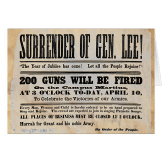 Surrender of General Lee Card