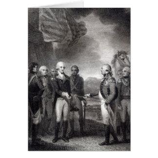 Surrender of Lord Cornwallis at Yorktown, 1781 Card