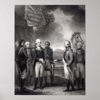 Surrender of Lord Cornwallis at Yorktown, 1781 Poster