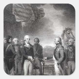 Surrender of Lord Cornwallis at Yorktown, 1781 Square Sticker